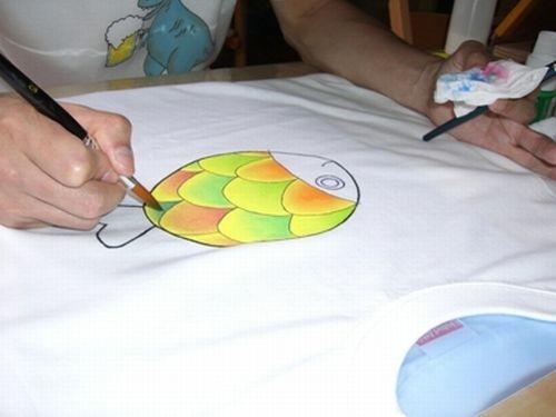 布用絵の具で色付をします