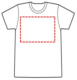 Tシャツに絵付けができる範囲