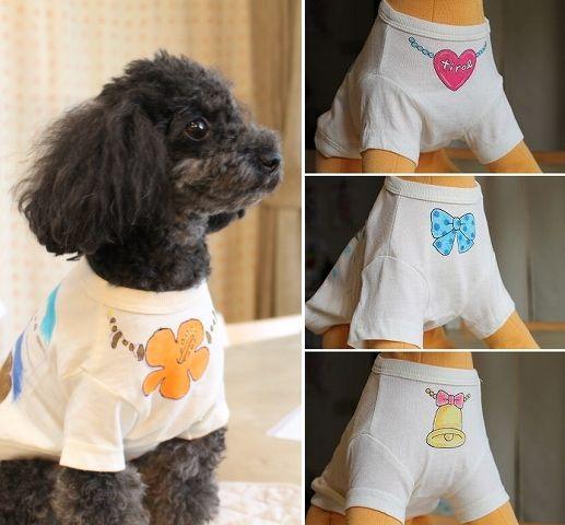 ワンコTシャツ胸元のワンポイント