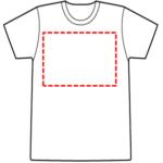 Tシャツの絵が描ける範囲