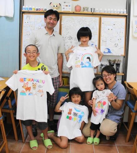 みんなで作った手描きTシャツは当日お持ち帰りできます