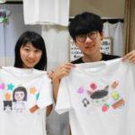 カップルの手描きTシャツ