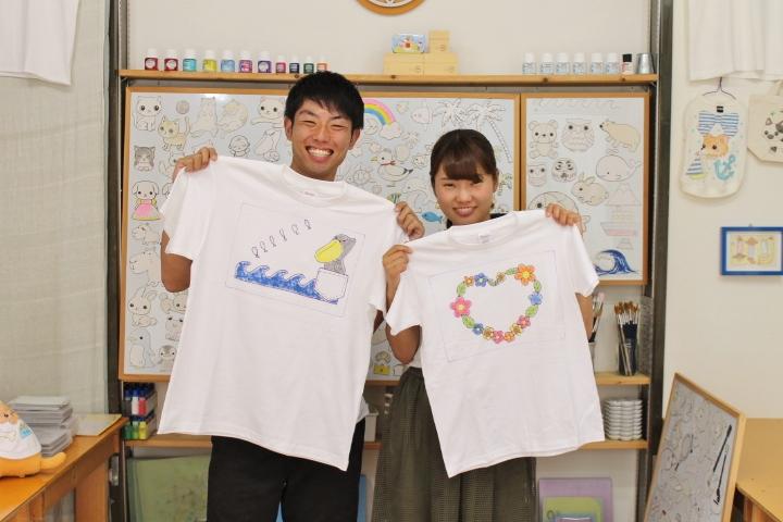 伊豆デートイベントに手描きTシャツ体験