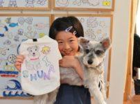 子供が作った手描きワンコTシャツ