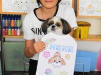 シーズーの手描きワンコTシャツ