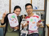 夫婦で作ったジャックラッセルテリアの手描きワンコTシャツ