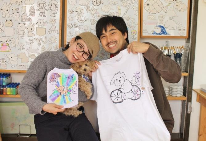 夫婦で作るワンコと手描きTシャツ