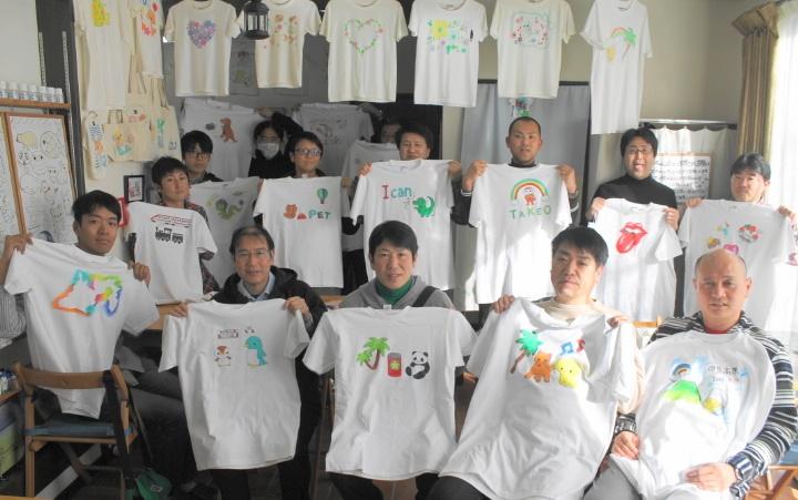 団体旅行で作った手描きTシャツ