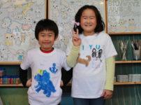 子供が作った手描きTシャツ