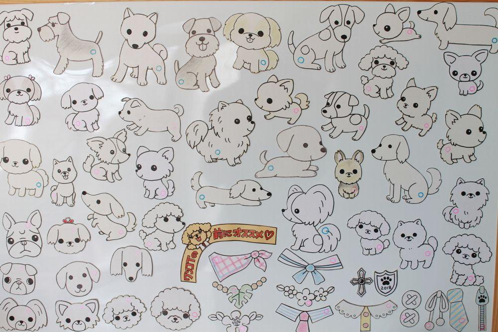 いろいろな犬種の型紙