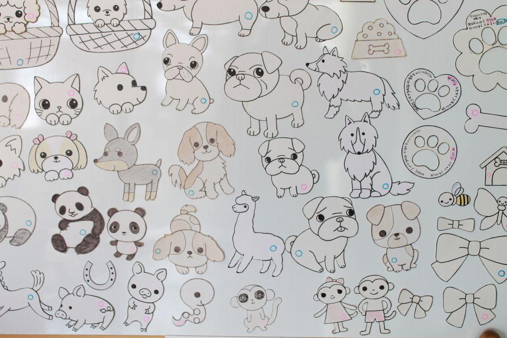 犬以外の型紙