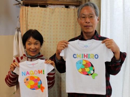 かわいい孫たちへの手描きTシャツ