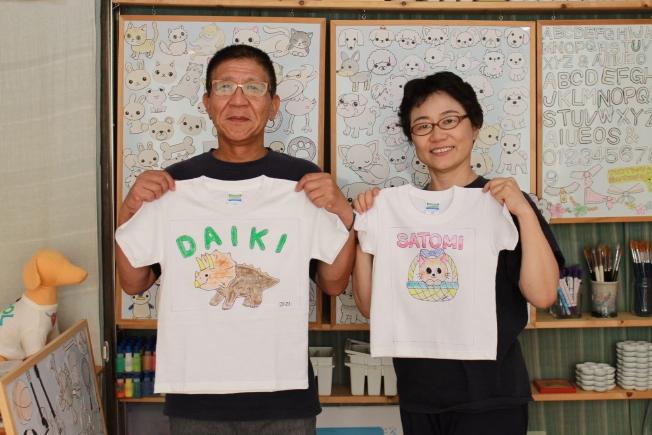 カワイイ孫たちへの手描きTシャツ