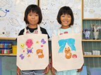子供たちの手描きトートバッグ