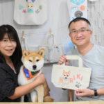 柴犬の手描きトートバッグ