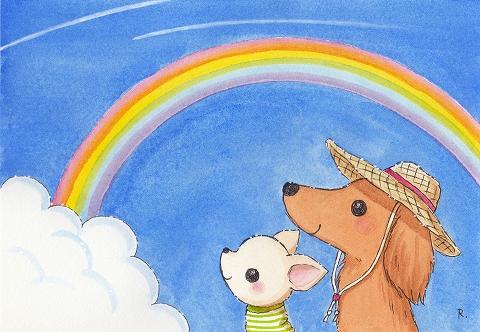 心は晴ればれ虹色気分