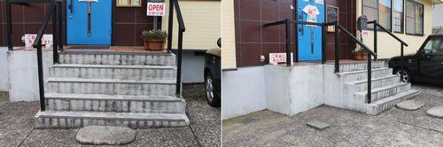 ドアの幅と階段