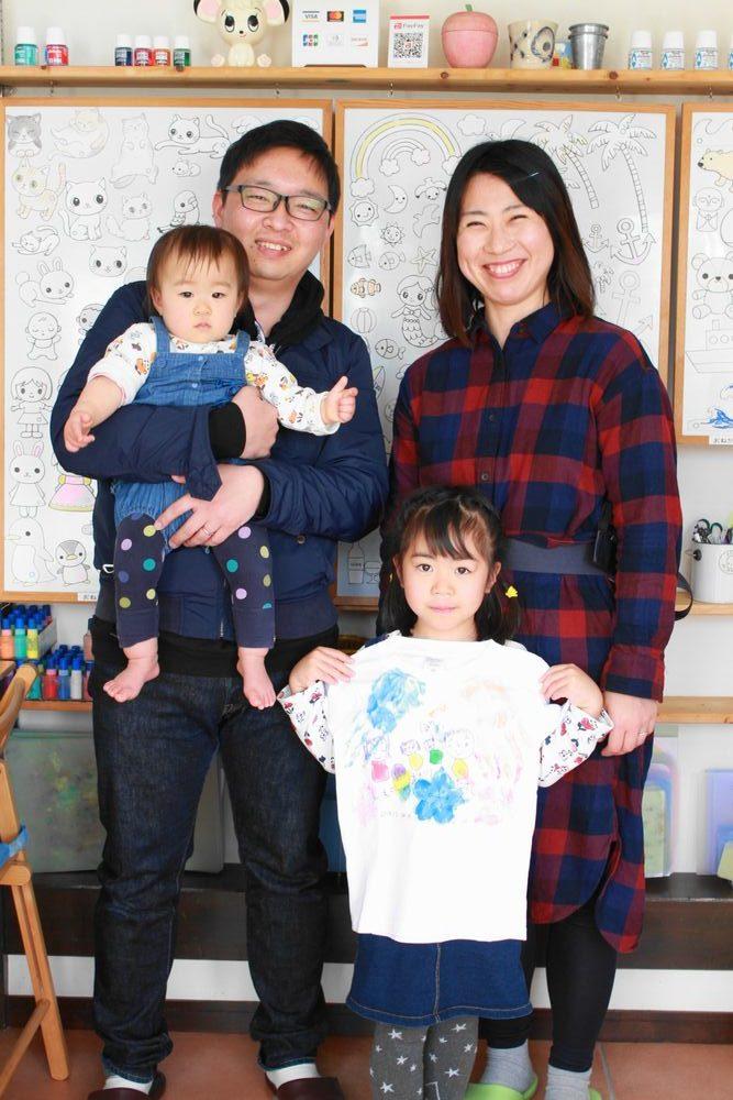 家族の手形Tシャツ