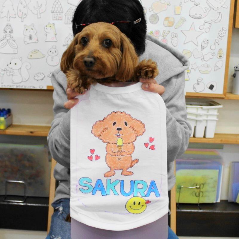 マルプーSAKURAちゃんの手描きワンコTシャツ