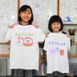 姉妹で作った手描きTシャツ