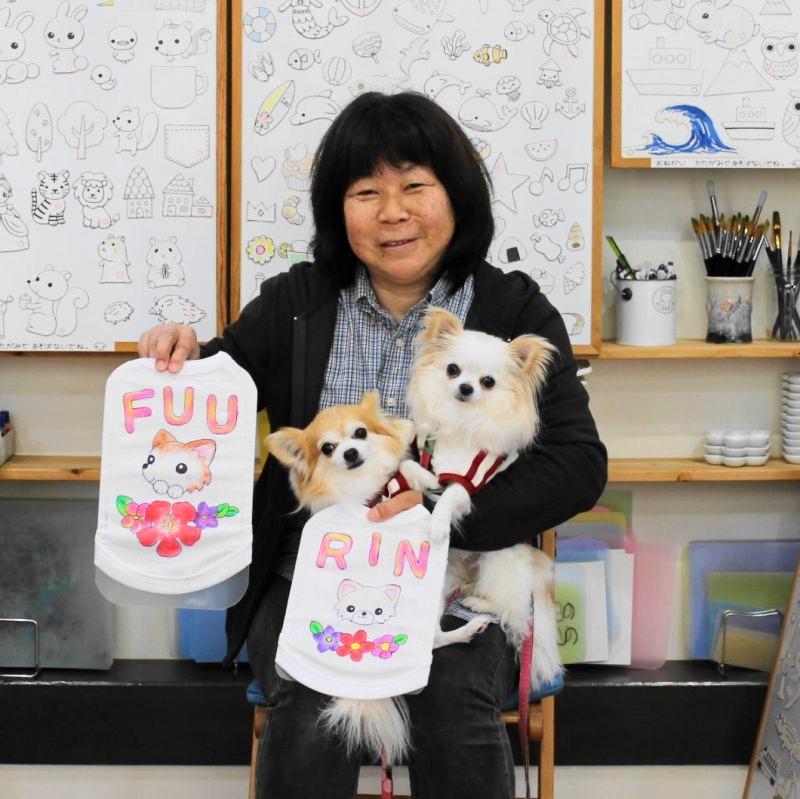 チワワのFUUちゃん・RINちゃんの手描きワンコTシャツ