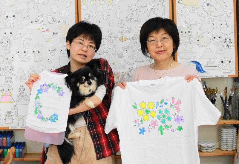 チワワ・クランちゃんの手描きワンコTシャツと手描きTシャツ