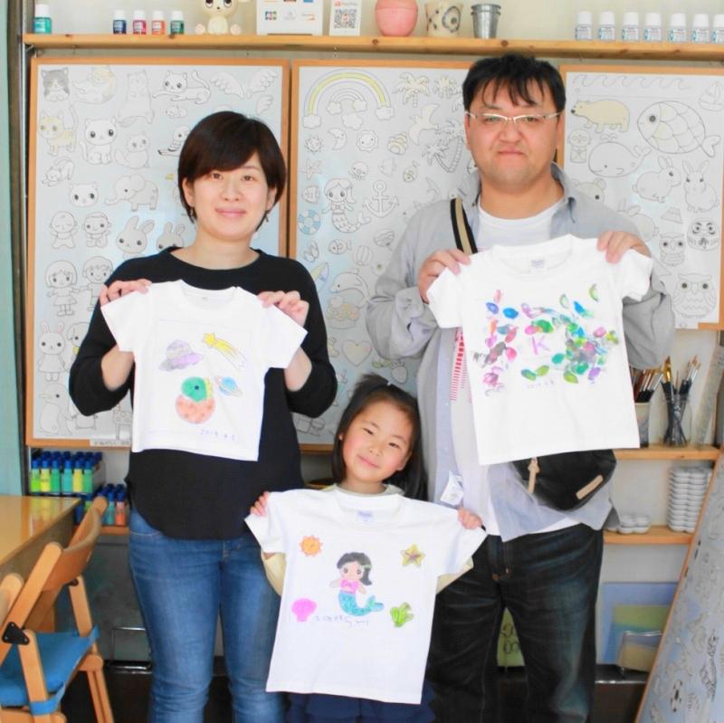 親子で作った手描きTシャツたち