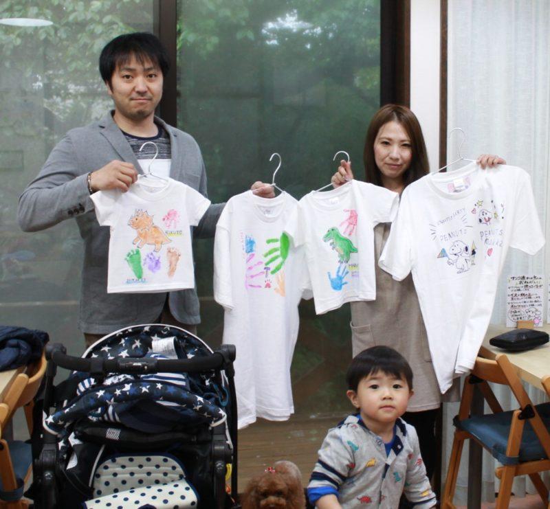 家族で作った手形Tシャツ