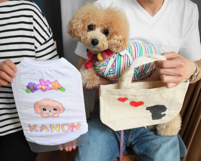 トイプードル・KANONちゃんの手描きトートバッグ