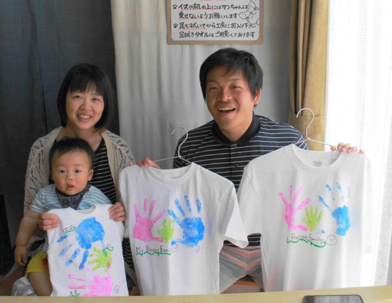 親子の手描きTシャツ
