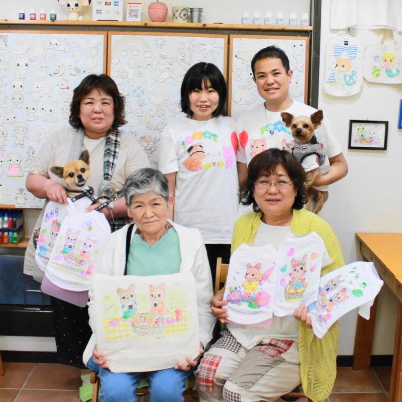 家族で作った手描き作品たち