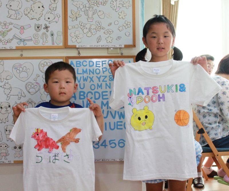 姉弟で作った手描きTシャツたち