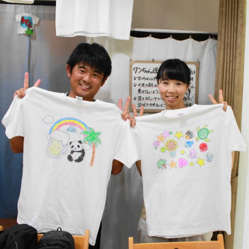 カップルで作った手描きTシャツたち