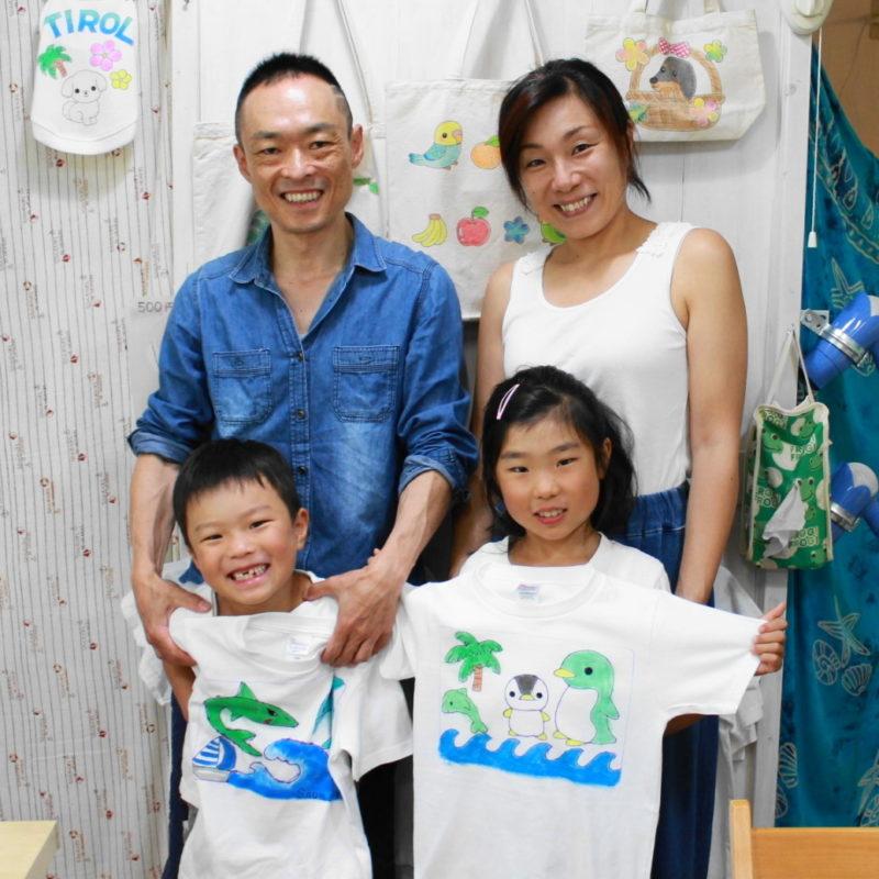 姉弟が作った手描きTシャツ