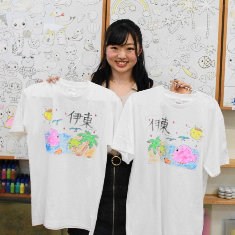 伊東のお揃い風手描きTシャツ