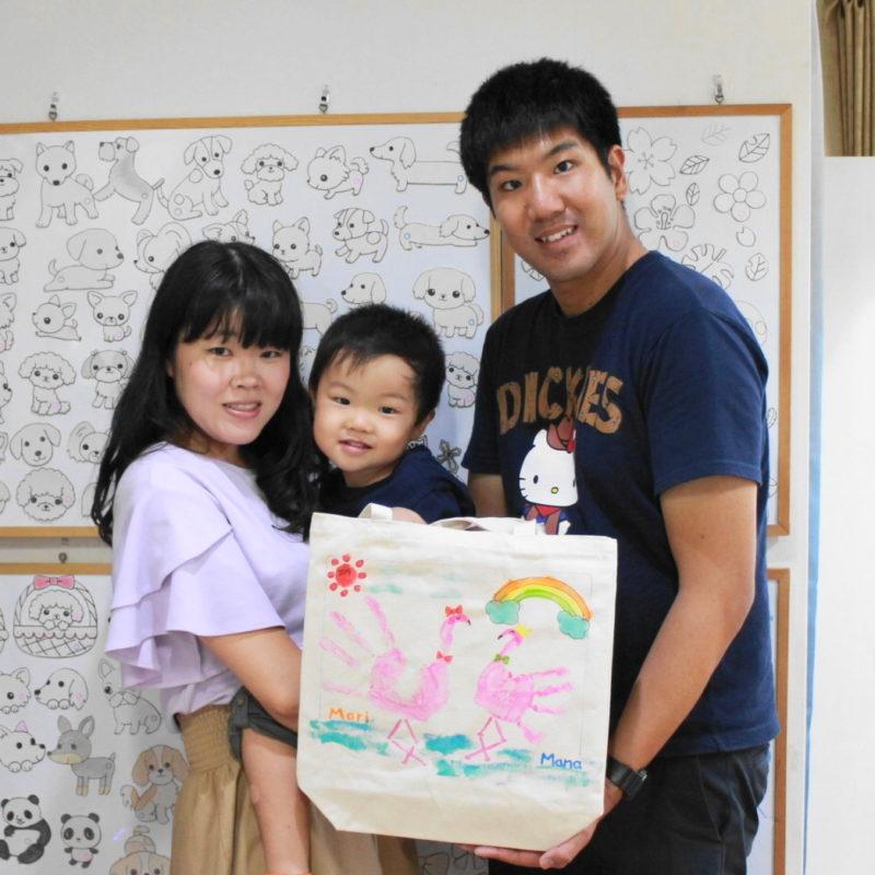 親子で作った手描きトートバッグ