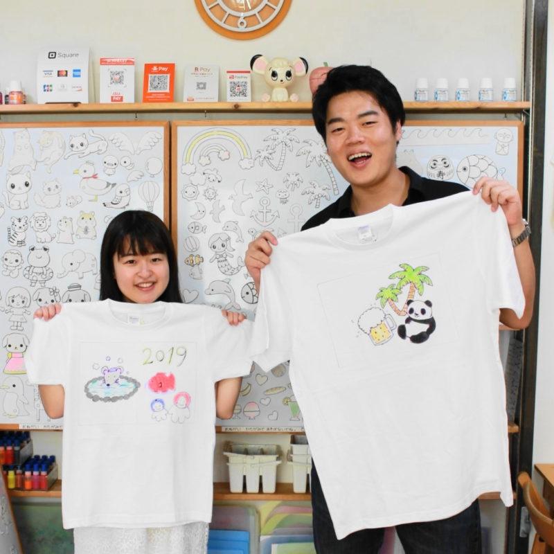 カップルさんたちの手描きTシャツ