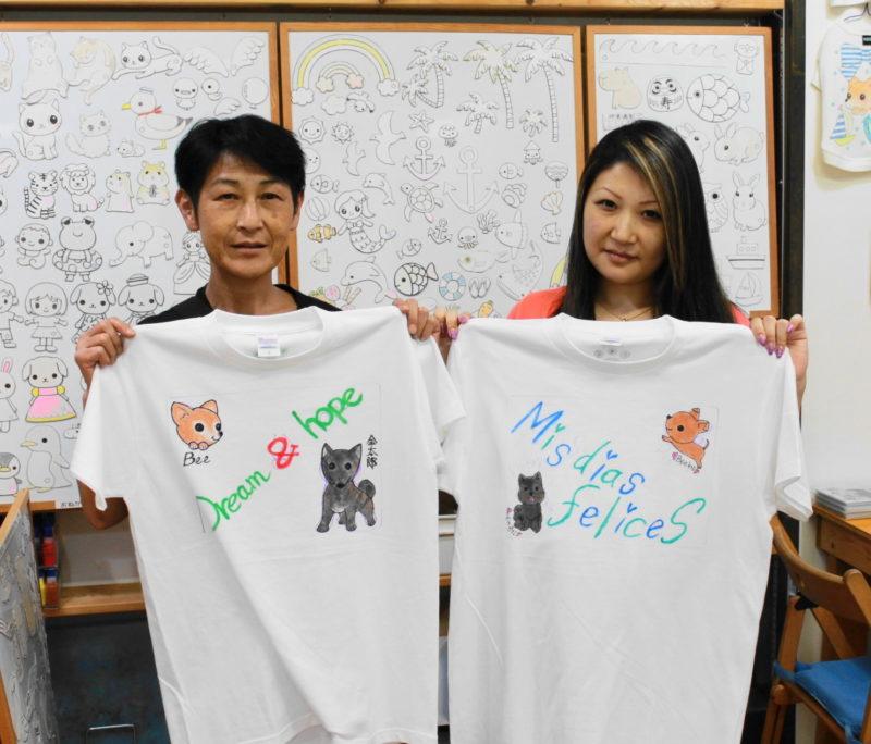 母娘で作った手描きTシャツ