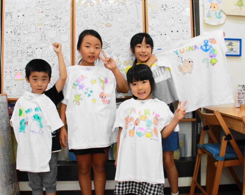 子供たちで作った手描きTシャツたち