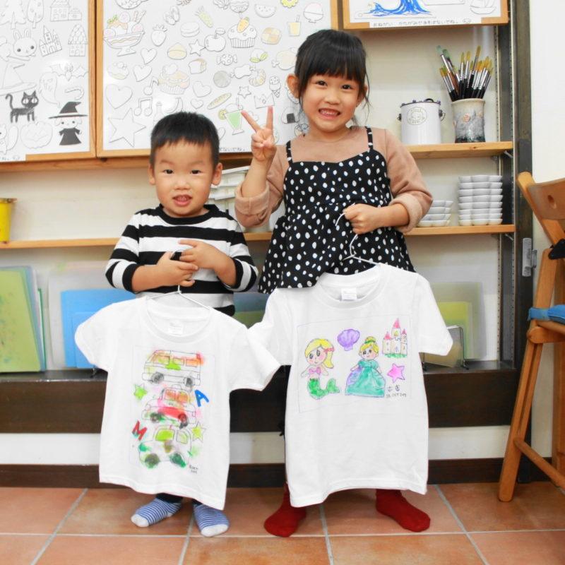 姉弟で仲良く作った手描きTシャツ