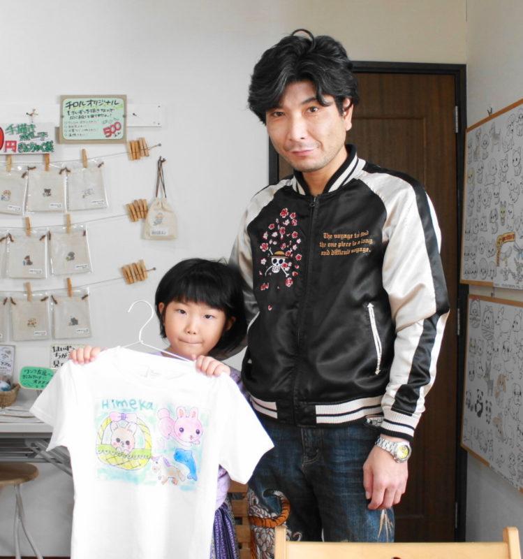 父と娘で作った手描きTシャツ