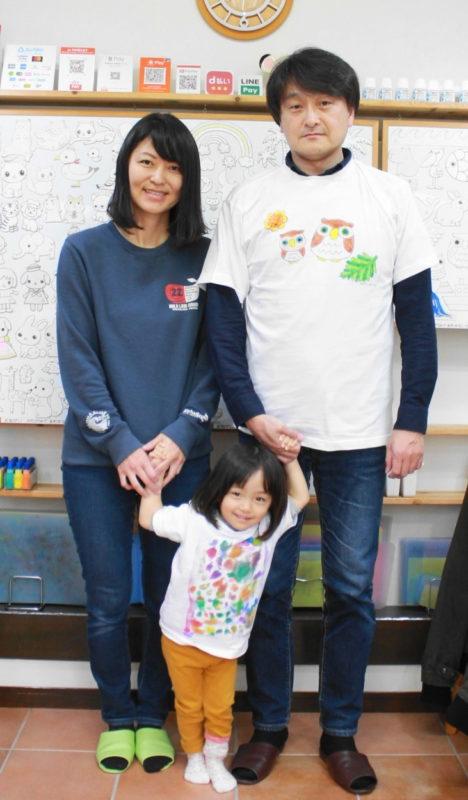 親子で仲良く作った手描きTシャツ
