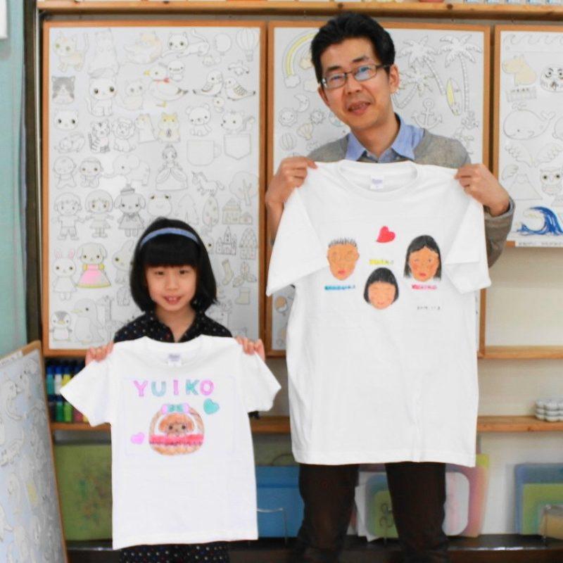 父娘の手描きTシャツたち