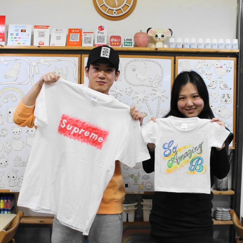 姉弟で作った手描きTシャツ