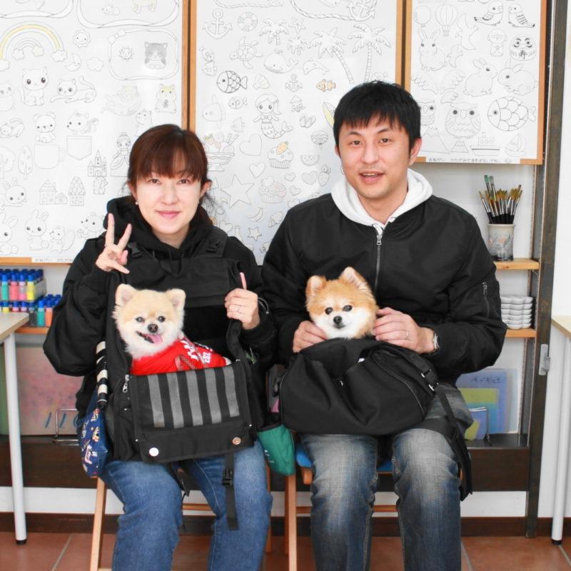 夫婦で作ったポメラニアンに手描きワンコTシャツ