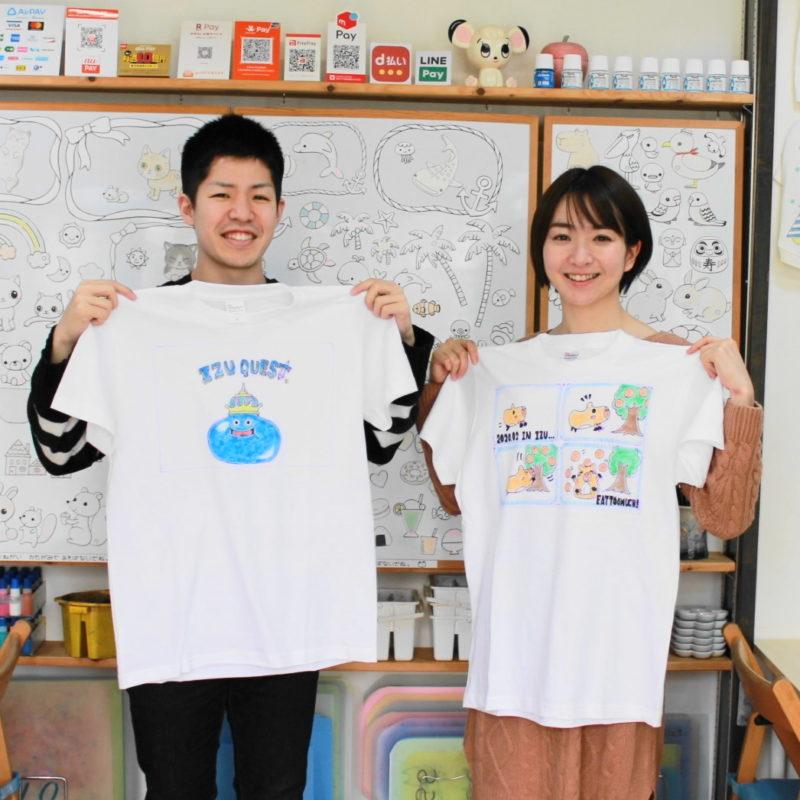 カップルで仲良く作った手描きTシャツ