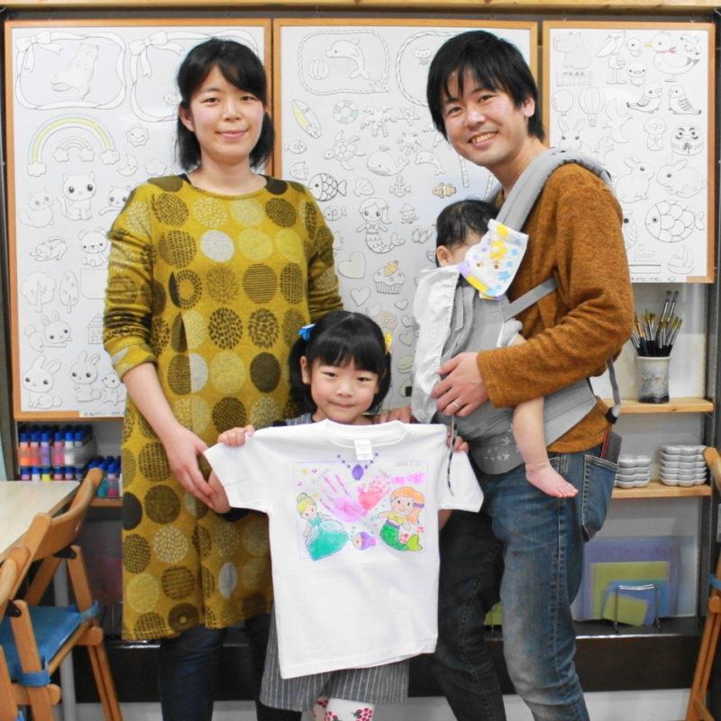 家族で作ったオシャレな手描きTシャツ