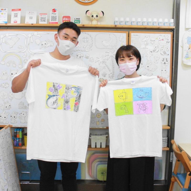 ふたりで仲良く作った手描きTシャツ