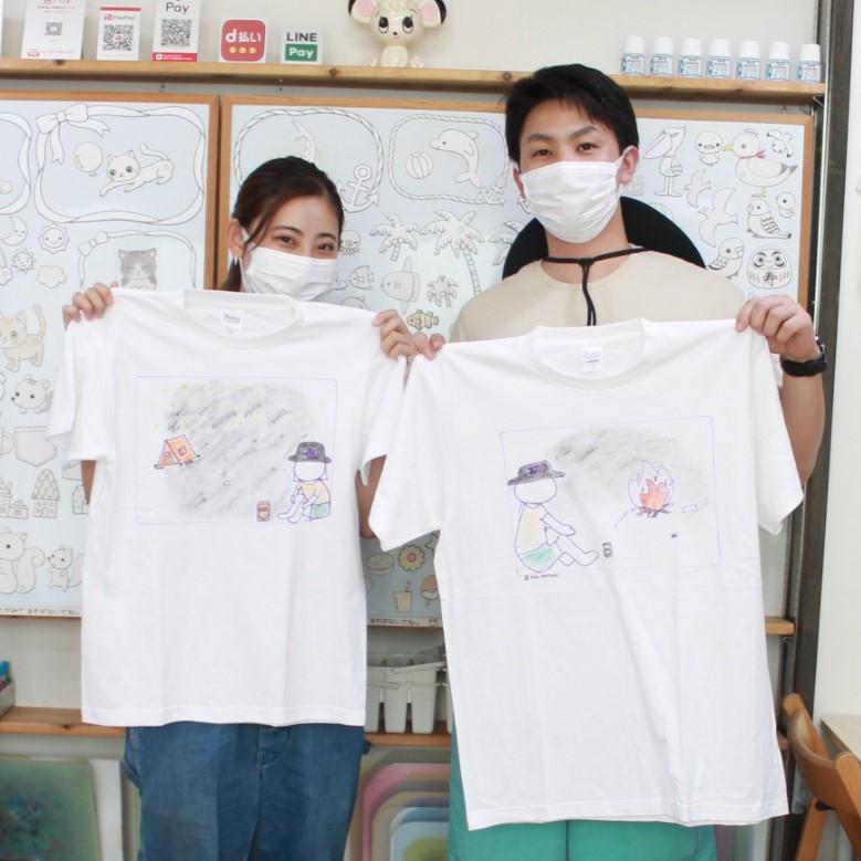 カップルで作った手描きTシャツ