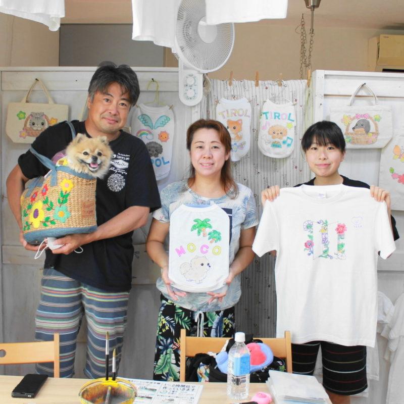 ポメラニアンMOCOちゃんの手書きワンコと手描きTシャツ